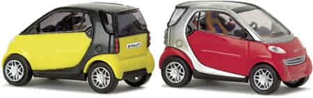 Busch 48900-4-6 H0 PKW Smart Fortwo City Coupé schwarz
