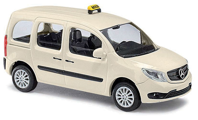 busch 50656 mercedes citan kombi taxi h0 vehicle model 1 87 ebay. Black Bedroom Furniture Sets. Home Design Ideas