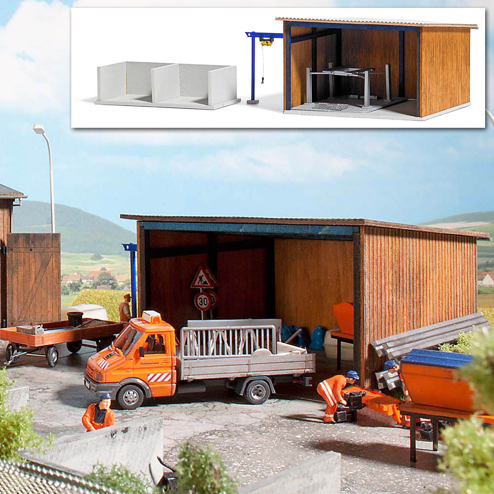 busch modellbau automodelle spiel und bastelmaterial fahrzeugunterstand artikel nr 1457. Black Bedroom Furniture Sets. Home Design Ideas