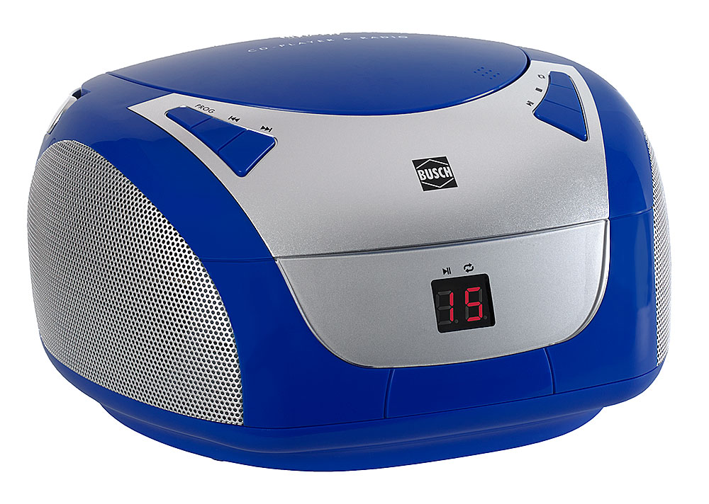 CD Player U0026 Radio »Blue Boombox«