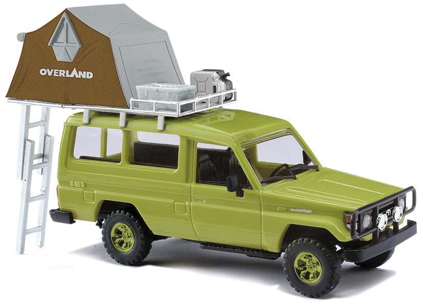 busch modellbau automodelle spiel und bastelmaterial toyota hzj78 mit dachzelt gr n. Black Bedroom Furniture Sets. Home Design Ideas