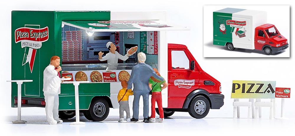 busch modellbau automodelle spiel und bastelmaterial pizza verkaufswagen artikel nr 5424. Black Bedroom Furniture Sets. Home Design Ideas